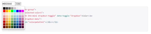 Bootstrap Color Palette
