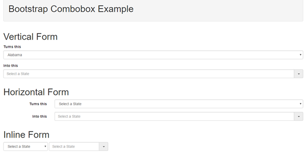 Bootstrap Combobox