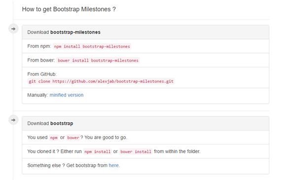 Bootstrap Milestones